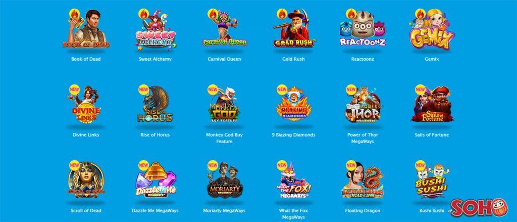 vera and john casino games screenshot