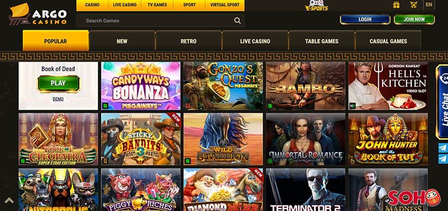 argo casino screenshot games