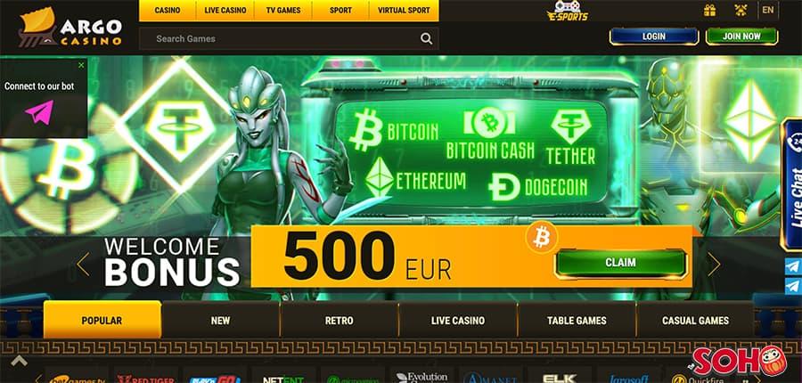 argo casino screenshot interface