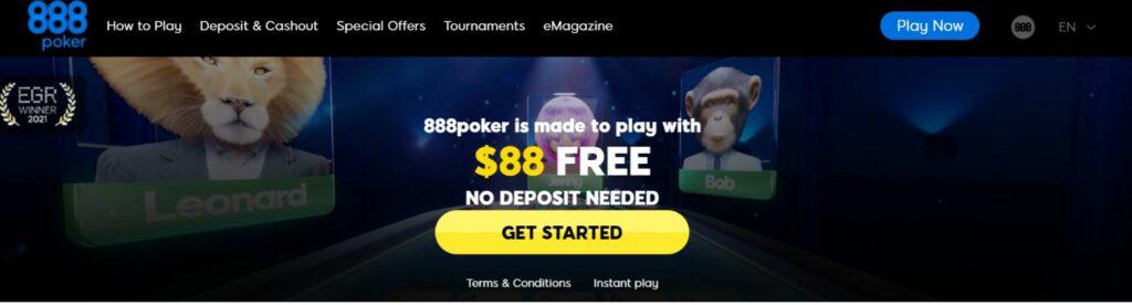 888poker TOPページ